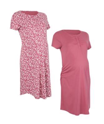 Mothercare Floral And Pink Nightdress - 2 Pack