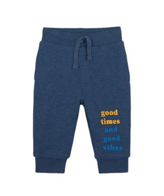 Mothercare Geo Dino Navy Marl Quote Jogger