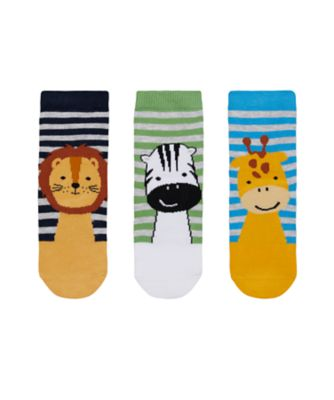 Mothercare Animal Faces Socks - 3 Pack