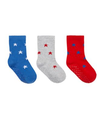 Mothercare Boys Star Slip-Resistant Socks - 3 Pack