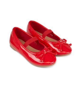 Mothercare Girls Red Ballerina Shoe