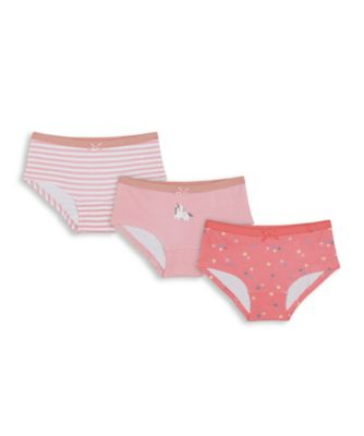 Mothercare Girls Party Horse Hipsters - 3 Pack