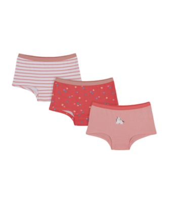 Mothercare Girls Party Horse Star Short - 3 Pack