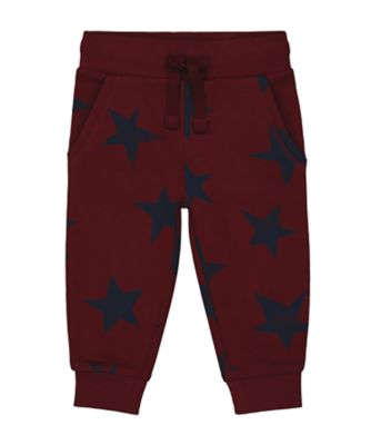 Mothercare Statement Flow Burgundy Star Print Jogger