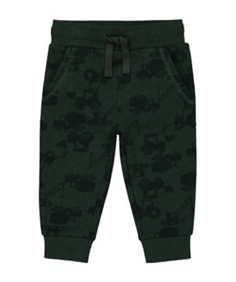 Mothercare Statement Flow Green Tractor Print Jogger