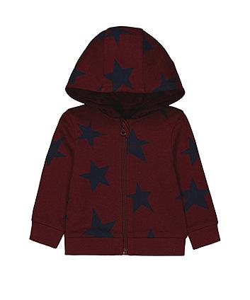 Mothercare Burgundy Star Hoody