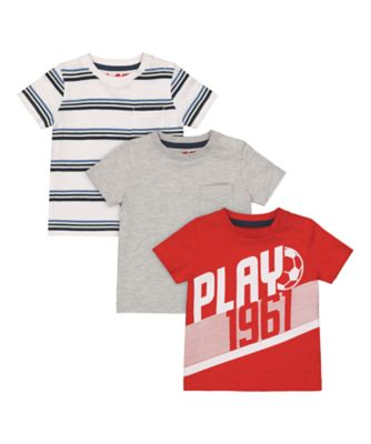 Mothercare MC61 Play Short Sleeve T-Shirt - 3 Pack