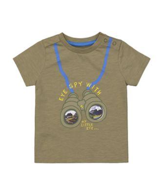 Mothercare City Explorer Khaki Eye Spy EPP Short Sleeve T-Shirt