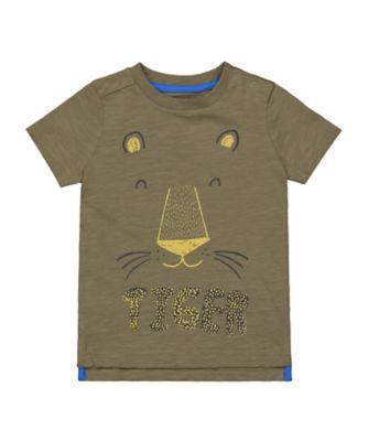 Mothercare City Explorer Khaki Glow in Dark Lion Short Sleeve T-Shirt