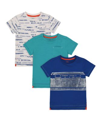 Mothercare Space Arcade Short Sleeve T-Shirt - 3 Pack