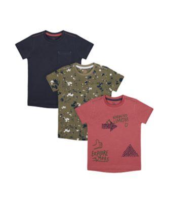 Mothercare Dusty Denim Short Sleeve T-Shirt - 3 Pack