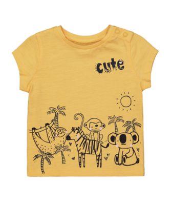 Mothercare Change Your Spots Mustard Jungle EPP Short Sleeve T-Shirt