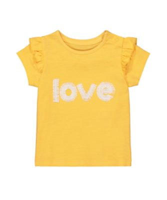 Mothercare Change Your Sports Mustard Love Short Sleeve T-Shirt