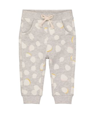 Mothercare Change Your Spots Grey Allover Print Loopback Jogger