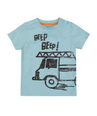 Mothercare Street Smart Blue Beep EPP Short Sleeve T-Shirt