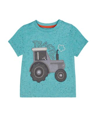 Mothercare Street Smart Embroideried Tractor Nep Short Sleeve T-Shirt