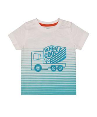Mothercare Street Smart Ombre Aqua Stripe Short Sleeve T-Shirt