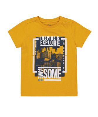 Mothercare Millenium Street Mustard City Scene Uber Short Sleeve T-Shirt
