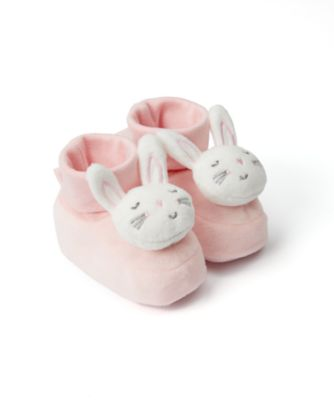 Mothercare Baby Girls Pink Bunny Rattle Baggy