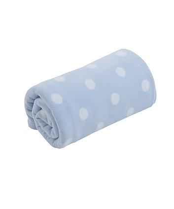 Mothercare Moses Basket or Crib Fleece Blanket - Blue
