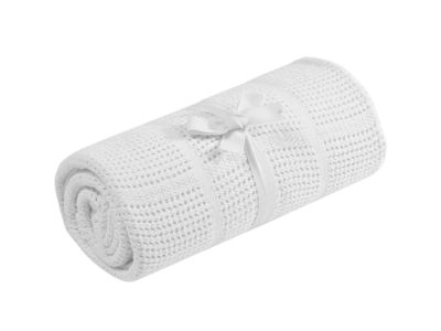 Mothercare Cellular Moses/Crib Blanket - White