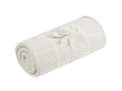 Mothercare Cellular Moses/Crib Blanket - Cream