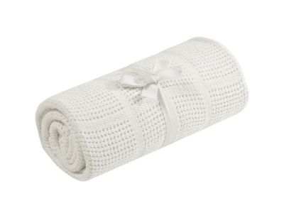 Mothercare Cellular Cot/Cot Bed Blanket - Cream