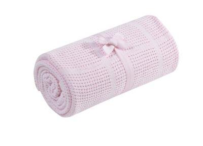 Mothercare Cellular Cot/Cot Bed Blanket - Pink