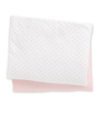Mothercare Fitted Jersey Cot Sheets - Pink & Print 2pk