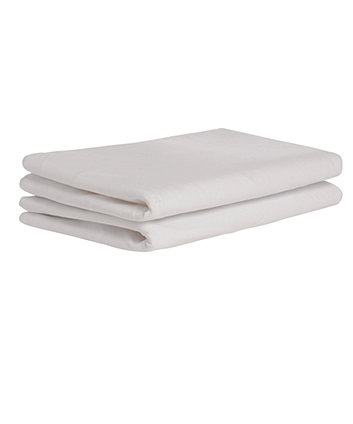 Mothercare Cot Bed Fitted Sheets - White - 2 Pack