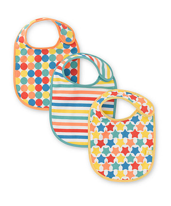 Mothercare Stars and Stripes Bibs- 3 Pack