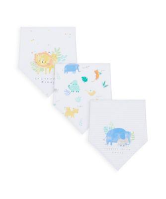 Mothercare Dribblers Mummy & Daddy Sleepy Safari 3-Pack