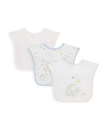 Mothercare Spring Flower Toddler Bibs - 3 Pack
