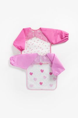 Mothercare Toddler Coverall Hearts PEVA 2-Pack
