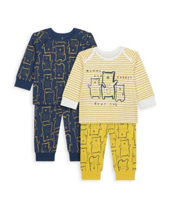 Mothercare Boys Mummy & Daddy Bear Pyjamas - 2 Pack