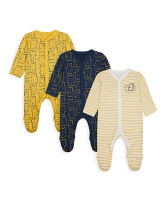 Mothercare Boys Mummy & Daddy Bear Sleepsuits - 3 Pack
