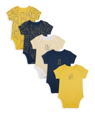 Mothercare Boys Mummy & Daddy Bear Short Sleeve Bodysuits - 5 Pack