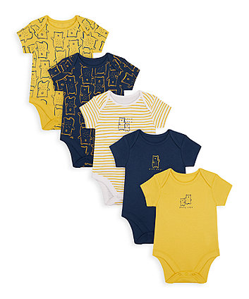 Mothercare Mummy And Daddy Bear Bodysuits - 5 Pack