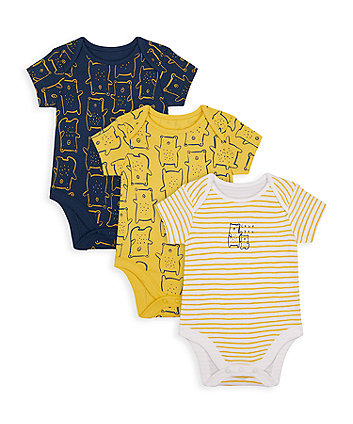 Mothercare Mummy And Daddy Bear Bodysuits - 3 Pack