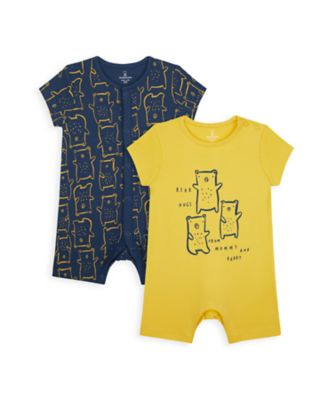 Mothercare Boys Mummy & Daddy Bear Rompers - 2 Pack