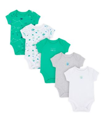 Mothercare Boys Me & My World Short Sleeve Bodysuits - 5 Pack