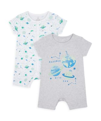 Mothercare Boys Me & My World Rompers - 2 Pack