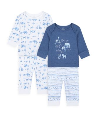 Mothercare Boys Safari Friends Pyjamas - 2 Pack