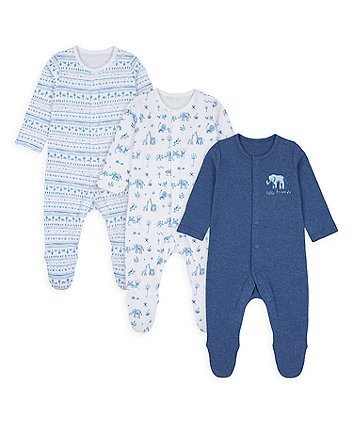 Safari Friends Sleepsuits - 3 Pack [SS21]