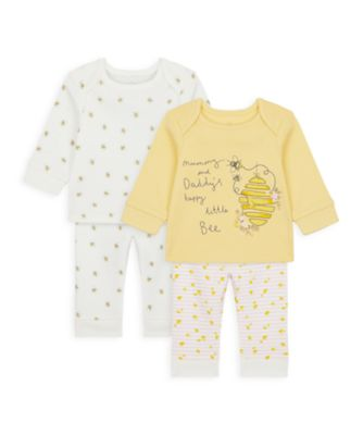 Mothercare Girls Mummy & Daddy Bee Pyjamas - 2 Pack