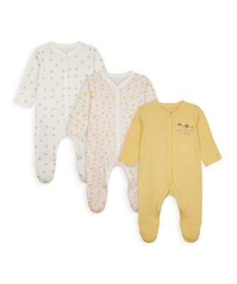 Mothercare Girls Mummy & Daddy Sleepsuits - 3 Pack