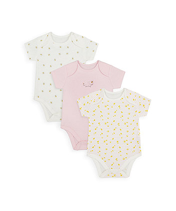 Mothercare Mummy And Daddy Little Bee Bodysuits - 3 Pack