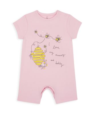 Mothercare Girls Mummy & Daddy Bee Single Romper