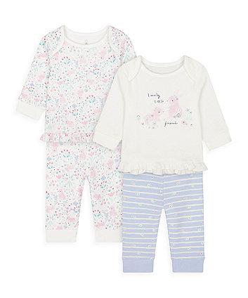 Mothercare Spring Bunny Pyjamas - 2 Pack