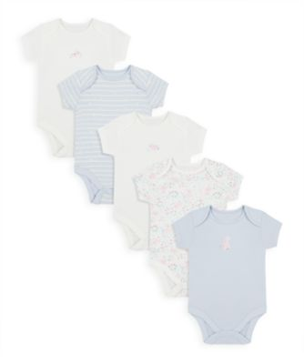 Mothercare Girls Spring Bunny Short Sleeve Bodysuits - 5 Pack
